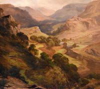 Oil Painting 'The Lledr Valley' by Frank T. Carter (5 of 9)