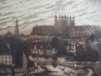 Walter W Burgess Etching of Exeter Dated 1888 (3 of 5)
