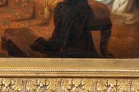 Large 19th Century Scene of William Shakespeare, British School Oil on Canvas (2 of 4)