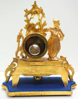 Stunning Complete French Mantel Clock Under Dome with Base Figural Sevres Mantle Clock. (7 of 10)