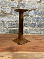 1920s  Oak Pedestal Display Stand (4 of 5)