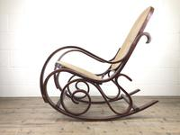 Bentwood Rocking Chair with Cane Seat (10 of 11)