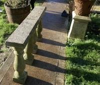 Weatherworn Concrete Balustrade, Columns & Coping Stones (6 of 7)