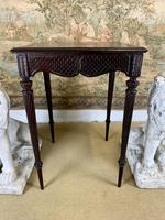 19th Century Carved Mahogany Occasional Table (2 of 7)