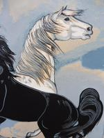 Watercolour & Ink Study of Stallions Artist Vigil (8 of 10)