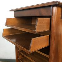 French Tambour Fronted Cherrywood Filing Cabinet with Haberdashery Style Trays (9 of 12)