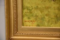 """Oil Painting Pair by Walter Vernon """"Racehorse Scenes"""" (6 of 11)"""
