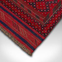 Long Antique Meshwari Runner, Persian, Wool, Kilim, Hallway, Carpet c.1900 (7 of 12)
