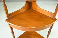 Stained Pine & Beech Corner Washstand (2 of 8)