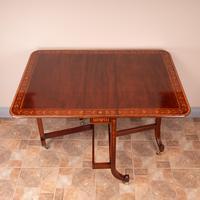 Inlaid Mahogany Edwardian Sutherland Table (17 of 19)