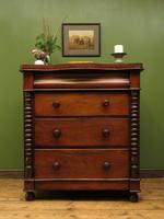 Antique Scottish Style Mahogany Chest of Drawers, Country House Chest (14 of 19)
