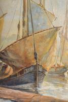 European School 19th Century Oil on Board, Coastal Scene (4 of 5)