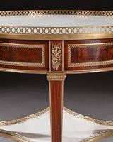 Exceptional Gervais Durand 19th Century Mahogany & Gilt Bronze Gueridon Bouillotte Table (17 of 17)
