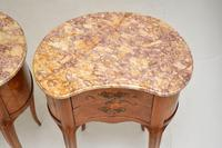 Pair of Antique French Marble Top Kidney Bedside Tables (11 of 12)