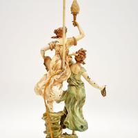 Antique Art Nouveau Table Lamp by L & F Moreau (10 of 10)