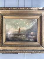 Antique Victorian marine seascape oil painting (1 of 2) (3 of 10)