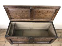 Early 19th Century Antique Oak Coffer Blanket Box (7 of 19)