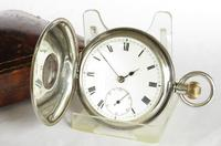 Antique Silver & Rose Gold Electa Half Hunter Pocket Watch (3 of 6)