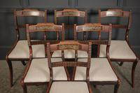 Set of 6 Regency Brass Inlaid Dining Chairs (5 of 16)