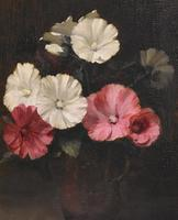 Still Life Oil Painting of Hollyhocks by Alfred Frederick William Hayward (5 of 7)