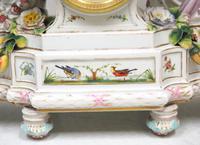 Original Meissen Porcelain Mantel Clock Figural Striking 8-Day Mantle Clock c.1860 (3 of 6)