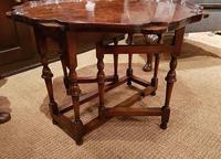Superb Antique Burr Walnut Drop Leaf Coffee Table (6 of 6)