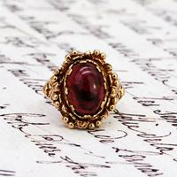 The Vintage Ornate Set Cabochon Ring (3 of 6)