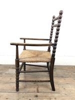 Antique Child's Bobbin Chair with Rush Seat (4 of 10)