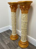 Dutch Golden Age Style Gilt Harvest Relief Plinth Display Torcheres (35 of 87)