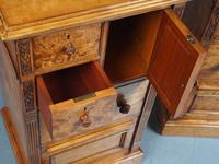 Antique Pair of Satinwood Bedside Cabinets by M. Woodburn (10 of 13)