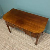Stunning Victorian Mahogany Bow Fronted Antique Writing Table (3 of 7)