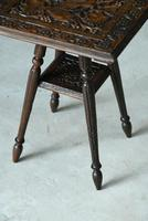 Small Eastern Carved Side Table (9 of 11)