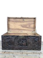 Carved Oriental Camphorwood Chest or Trunk (8 of 13)