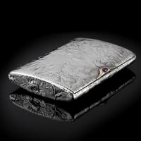 Antique Imperial Russian Solid Silver Samorodok Snuff Box Case - Rudolf Veyde c.1900 рудольф Вейде (6 of 15)