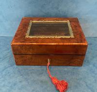 Victorian Walnut Display Box