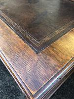 Antique Oak Pedestal Writing Desk (Pri) (11 of 13)