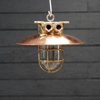 Original Ships Brass Passageway Light – Copper Shade (5 of 5)