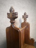 Victorian Carved Oak Gothic Church Pew (11 of 12)
