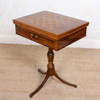 Rosewood Games Table Chess Board Folding Card Table 19th Century (3 of 16)