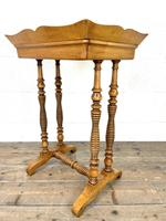 Antique Satin Birch Tray Top Side Table (10 of 10)