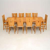 Satin Birch Dining Table & 10 Chairs Vintage 1950's (2 of 12)