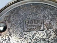 Early 20th Century Sheffield E.H.Parkin & Co Silver Plate Wine Coaster (9 of 9)