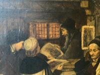 Substantial 19th Century Flemish Oil Painting of Locals in Brugge by Dumont (13 of 21)