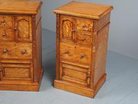 Antique Pair of Satinwood Bedside Cabinets by M. Woodburn (6 of 13)