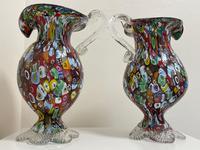 2 Beautiful Italian Murano Fratelli & Torso Millefiori Glass Vases (31 of 34)