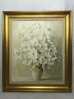 20th Century Oil Painting Still Life Bouquet Flowers Listed Elizabeth Rouviere (3 of 26)