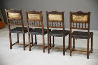 4 French Leather Dining Chairs (8 of 12)
