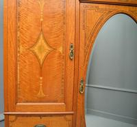 Stunning Victorian Satinwood & Marquetry Compactum Wardrobe (20 of 24)