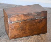 Fine London Made Burr Walnut Tea Caddy (4 of 6)