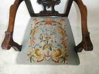 Carved Chippendale Revival Armchair (2 of 10)